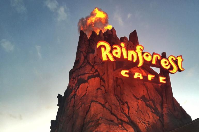 ORLANDO: RAINFOREST CAFE – UMA REFEIÇÃO NA FLORESTA