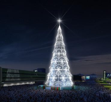 BarraShopping inaugura árvore de Natal interativa com 70m de altura