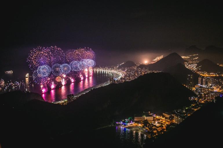 Festas de Réveillon no Rio e em SP